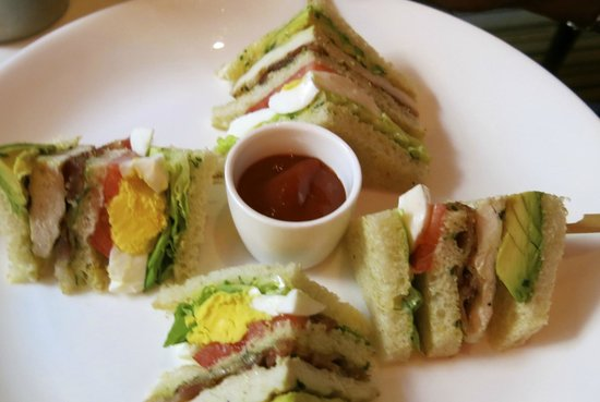 The Mark Restaurant by Jean Georges: The Club Sandwich, with generous amount of avocado.
