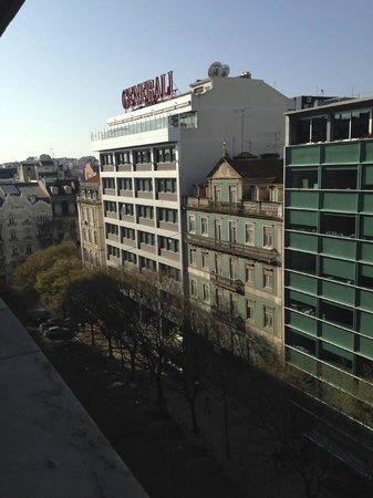 Turim Av Liberdade Hotel: Vista da nossa janela
