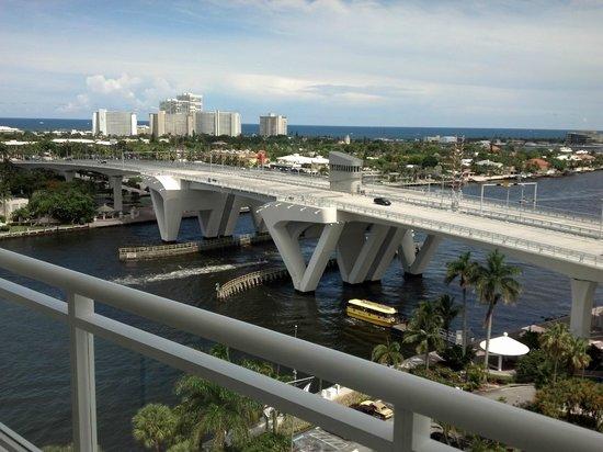 Hilton Fort Lauderdale Marina: Vista do quarto no último andar, de frente pra marina