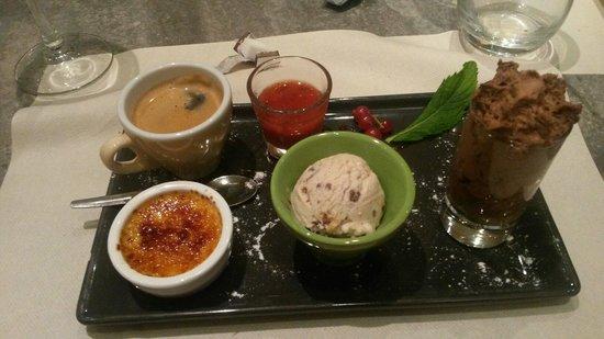 Le Petit bouchon : Cafe gourmand (la creme brule un delice ainsi que la glace.)