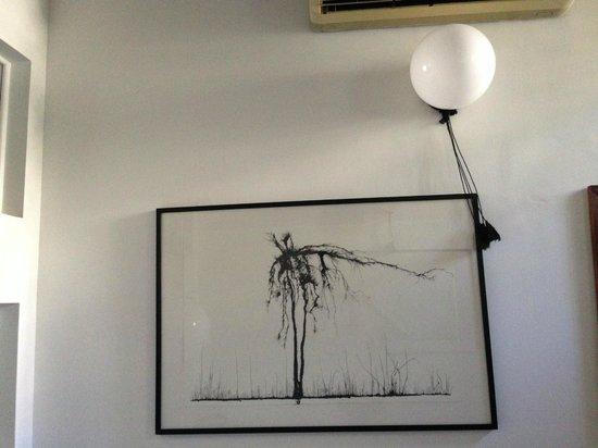 XVA Art Hotel: Art on the wall