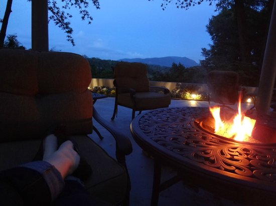 Biltmore Village Inn: The firepit and view