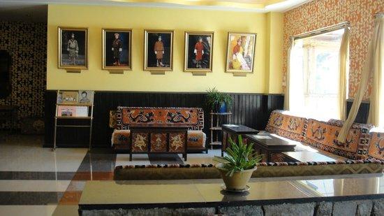 Hotel Migmar: Waiting area at reception