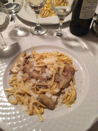 Le Mani in Pasta: Fetuccine com porccini: perfeito!!!!!