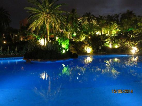 Hacienda San Jorge: piscina noche