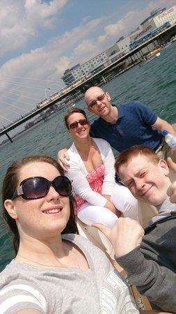Southport Marine Lake: Motor boats ride