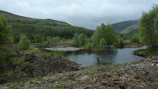Highland Titles Nature Reserve: One of the new lochan's