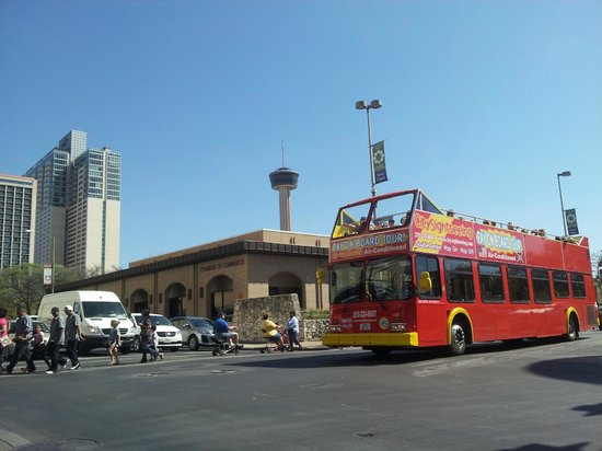 City Sightseeing San Antonio: In the shadow of The Tower of the Americas at HemisFair Park