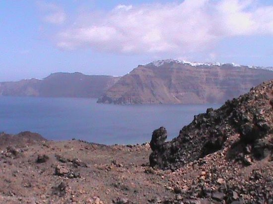 Santorini Volcano: paesaggio di Nea Kameni