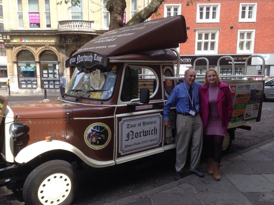 Sightseeing Tour of Olde Norwich: After the amazing tour in Norwich! :)
