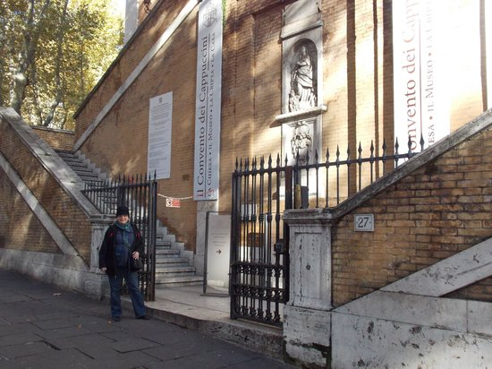 Museum and Crypt of Capuchins: outside the ossuary and museum (no photos allowed inside)