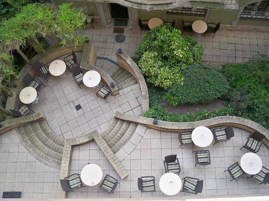 art'otel budapest: hotel patio