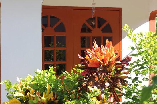 Veronique's Guesthouse : Дверь на кухню - вид с улицы