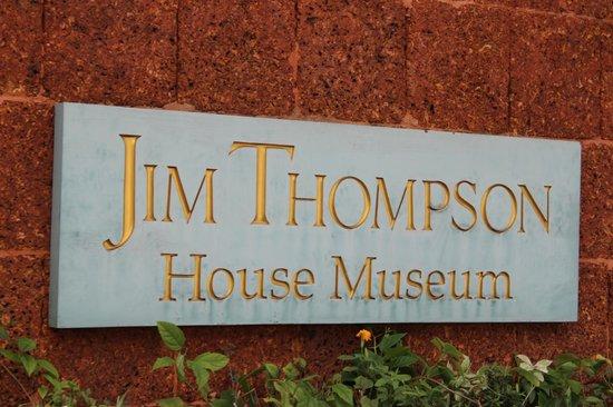 Jim Thompson House: Entrance Plaque