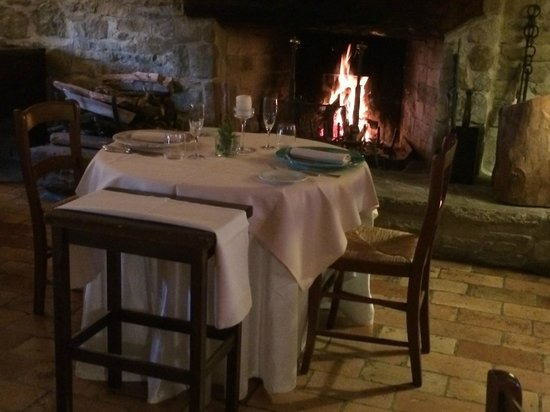Le Silve di Armenzano: Dinner by the fire