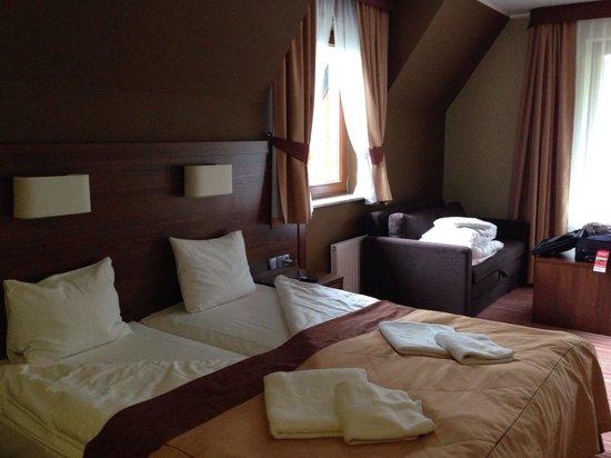 Willa Pod Skocznia: The bedroom