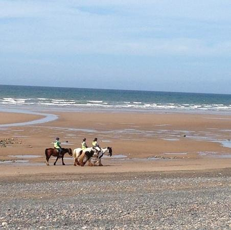 Murthwaite Green Trekking Centre Day Rides: great riding beach