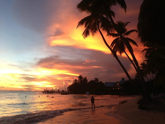 Dreams La Romana Resort & Spa : Sunset at the beach