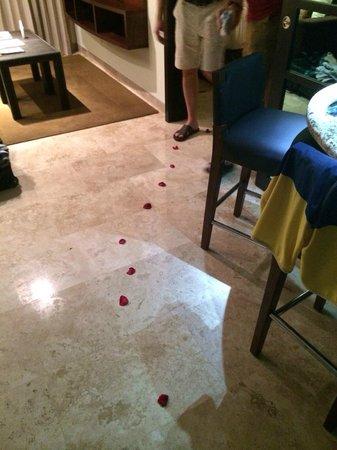 Paradisus Playa Del Carmen La Esmeralda: Rose petals left in our sons room