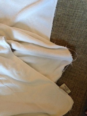 Hilton Sheffield: frayed towel