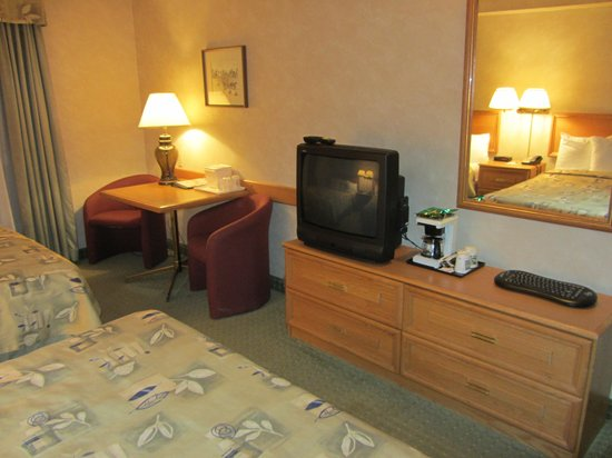 Quality Hotel & Suites Airport East: Dated television and furnishings