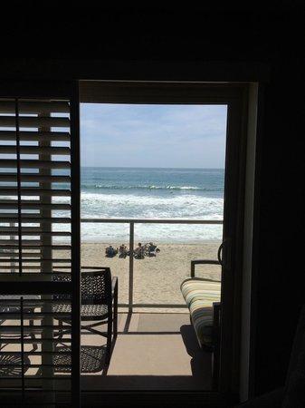 Beach Terrace Inn: View from inside the ocean front room, 2nd floor