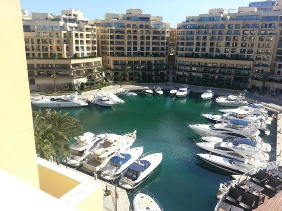 Hilton Malta: view of Portomasso from 7th floor.