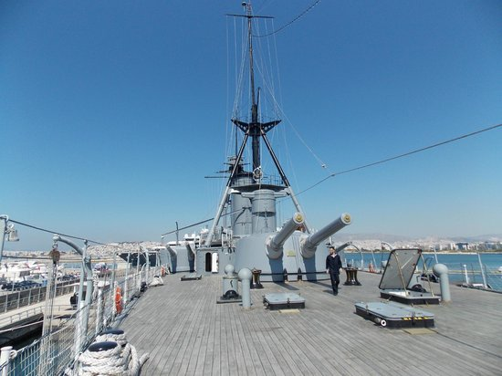 Floating Naval Museum Battleship Averof: We enjoyed this ship
