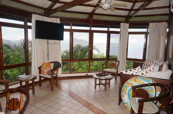 "Tulemar Bungalows & Villas: The ""living room"" with amazing view"