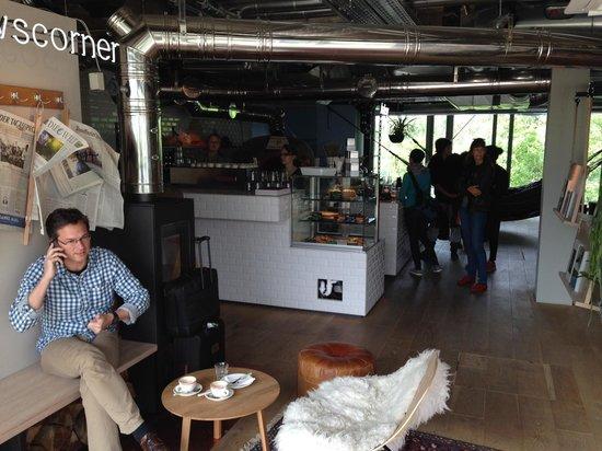 25hours Hotel Bikini Berlin: coffee shop by reception, nice touch