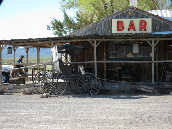 Loneliest Highway in America (Hwy. 50): Little bar/gas station that saved me along the way