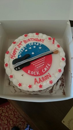 Awe Inspiring My Husbands Birthday Cake Picture Of West Coast Rock Cafe Personalised Birthday Cards Veneteletsinfo