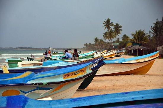 Shahira Hotel Nilaveli: fisherboats at the beach