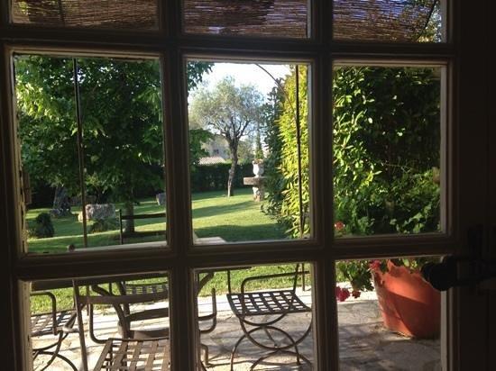 Hotel du Clos: vista dalla sala colazione