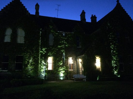 Castle Leslie Estate: The Lodge at night.