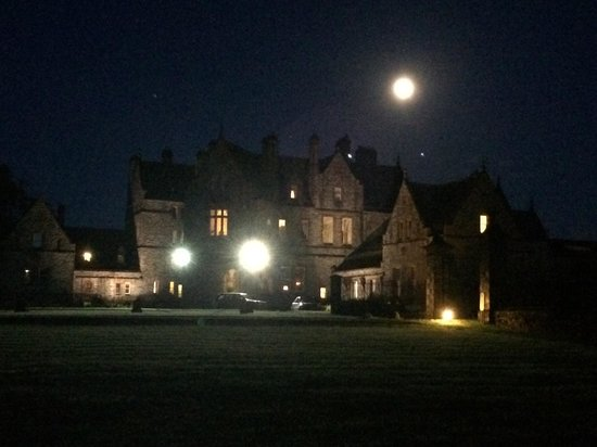 Castle Leslie Estate: And the Castle in the moonlight.