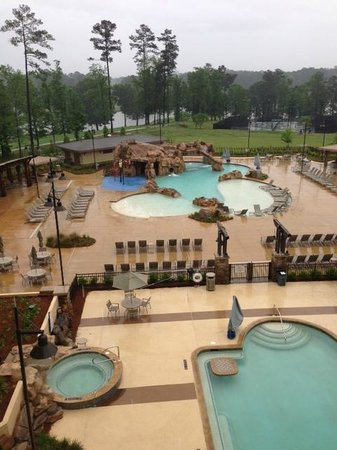 Auburn Marriott Opelika Hotel & Conference Center at Grand National: The pool viewed from our room
