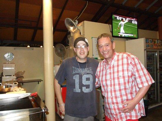Restaurant Bamboo Grill & Bar : Der sympatische Gastgeber Matthias Bück