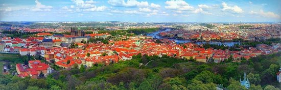 Petrin Tower (Rozhledna) : Prague from Petrin