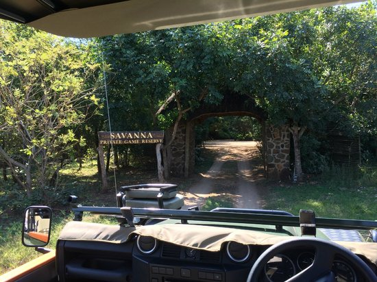 Savanna Private Game Reserve : View as you enter the property