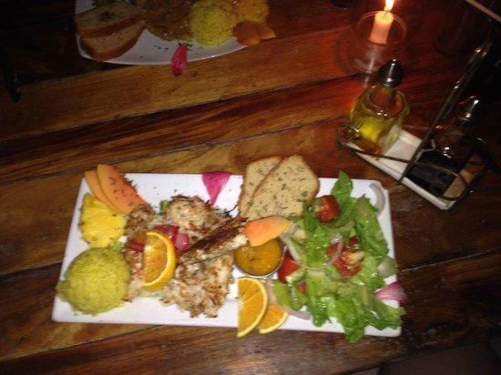 Habanero's Restaurant: Coconut encrusted Chicken