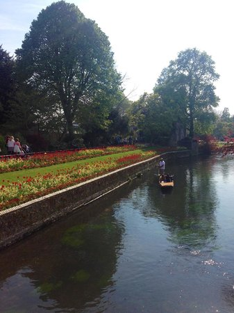 Westgate Gardens: Gondola ride down the canal
