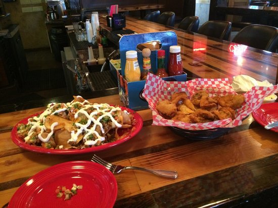 The Buffalo Bar: Dirty chips and Rocky Mountain oysters.