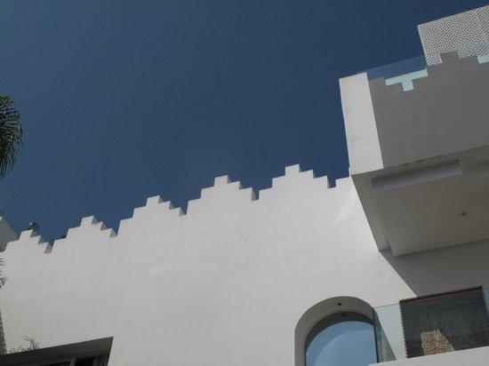 Riad Zyo : La terrasse vue du patio