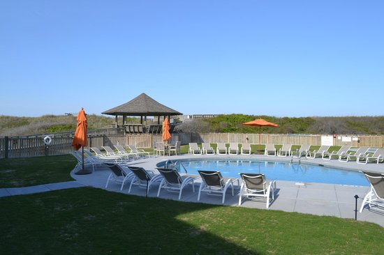 Sanderling Resort: View from our patio of the pool