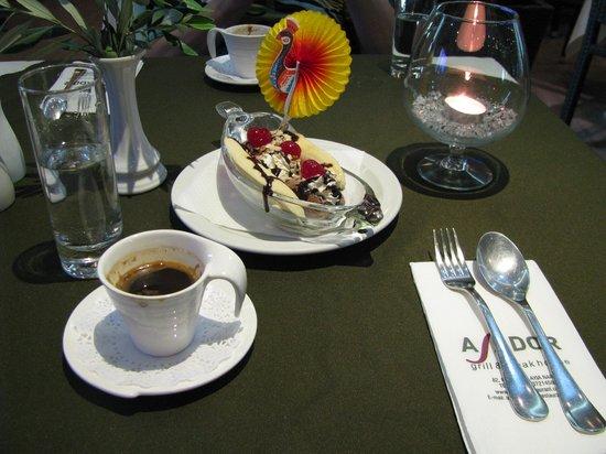 Asador Grill Steak House : Кипрский кофе и десерт
