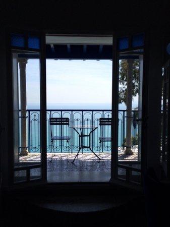 La Villa Bleue: Terrasse