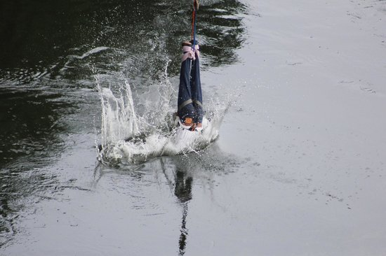 Nile High Bungee: Nothing more exciting in bungee than an water touch jump.