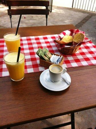 Café sob as árvores da Cantareira