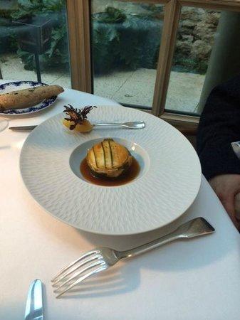 Restaurant Clair de Plume Gastronomique : Lamm wrapped in Zuchini & Lemon Sorbet